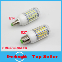 10X LED Light Ultra bright E14 E27 LED Bulb Candle 30W SMD 5730 With Cover 96 leds Warm White Cool White 220V LED Corn Bulb