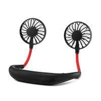 Hände freies Neck Band Hände Freies Hängen USB Aufladbare Dual Fan Mini Luftkühler Sommer Tragbare Ventilatoren Haushaltsgeräte -