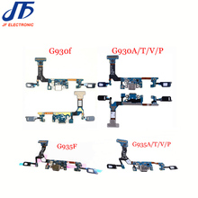 10pcs Charging flex cable for SamSung Galaxy S7 G930F g930 A T V P & S7 Edge G935F g935 Charger USB Port Dock Connector