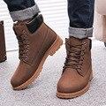 2016 Novos Homens botas botas de Inverno moda neve tornozelo sapatos tamanho Grande 39-46