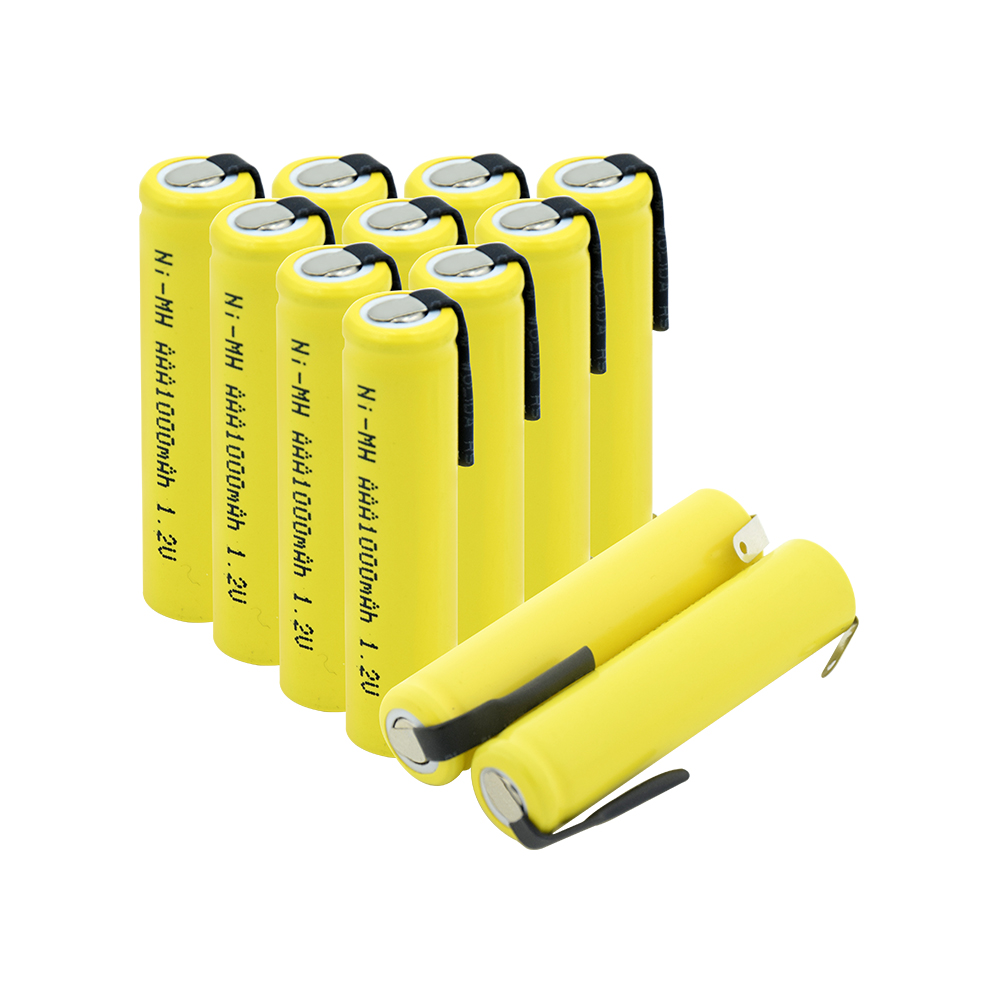 1.2v <font><b>AAA</b></font> 3A NIMH <font><b>1000mah</b></font> <font><b>AAA</b></font> Battery <font><b>Rechargeable</b></font> <font><b>aaa</b></font> Batteria ni-mh batteries battery <font><b>rechargeable</b></font> With Tabs For Toys Razor image