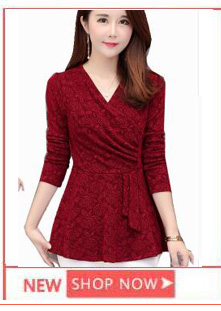 313baad017d 2 Style Lace Blouses Shirts Women Tops Fashion Slim Cute V Neck ...
