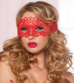 Sexy Lingerie Red Black Lace Mask Hollow Veil Goggles Club Cosplay Costume Women Night Underwear Hot Babydoll