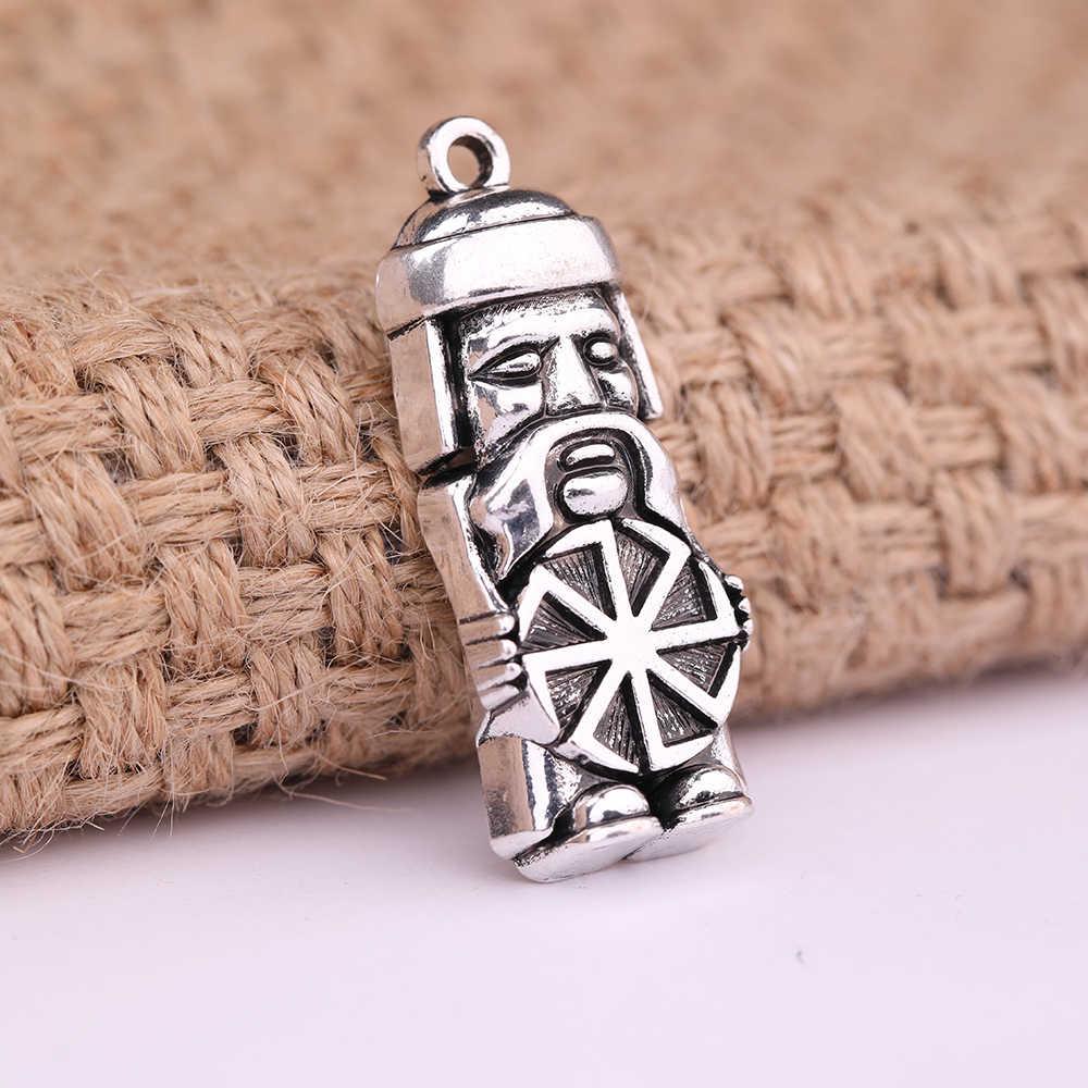 Dawapara Domovoi Greybeard męski słowiański wisiorek Amulet urok biżuteria oświadczenie naszyjnik rysunek symbole dla mężczyzn i kobiet