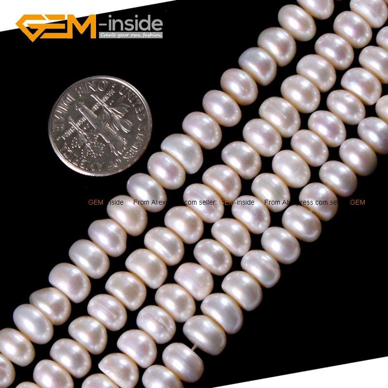 b05d022f18ba Perla cultivada de agua dulce Natural para la joyería que hace 7-8mm 15  pulgadas DIY joyería al por mayor de FreeShipping interior