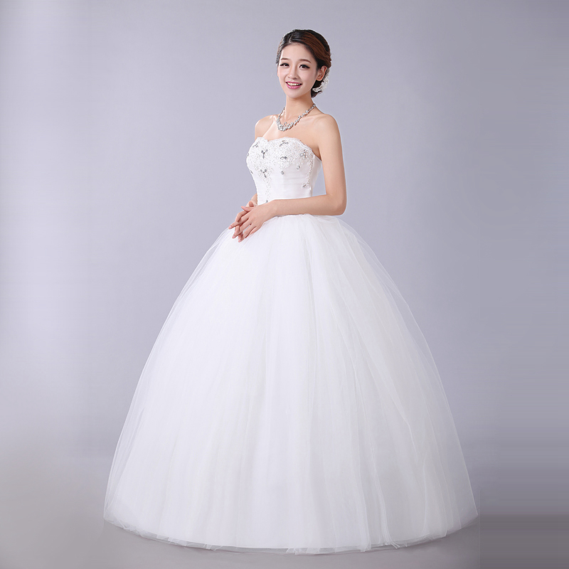 White Wedding Dress 2015 New Arrival Winter Lace Vintage