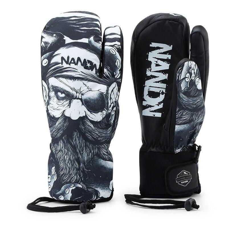 Gants de Ski hommes femmes chaud hiver imperméable Ski Snowboard gants motoneige équitation moto extérieur neige gants - 4