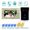 (1 SET) video Intercom Verbetering tool Deurtelefoon 7 ''Touch Monitor Met RFID Card Unlock Release Functie Deurbel Systeem