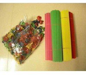 The balloon sticks & cups(with balloons together for a set of torre) long 27 cm balloon bars/bands
