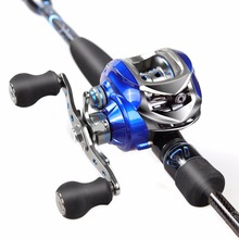 2.1m Fishing Rod Combo 46T Carbon Rod Baitcasting Fishing Rod 2 Sections Fishing Rod Set Red Left /Right Hand Bait Casting Reel