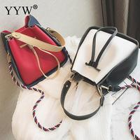 YBYT Brand New Women Casual Bucket Bags High Quality Handbags Female Shopping Pouch Ladies Shoulder Packet