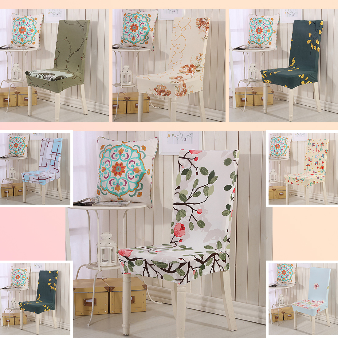 Printing Flower Stretch Chair Cover Big Elastic Seat Chair Covers Painting  Slipcovers Restaurant Banquet Hotel Home Decoration In Chair Cover From  Home ...