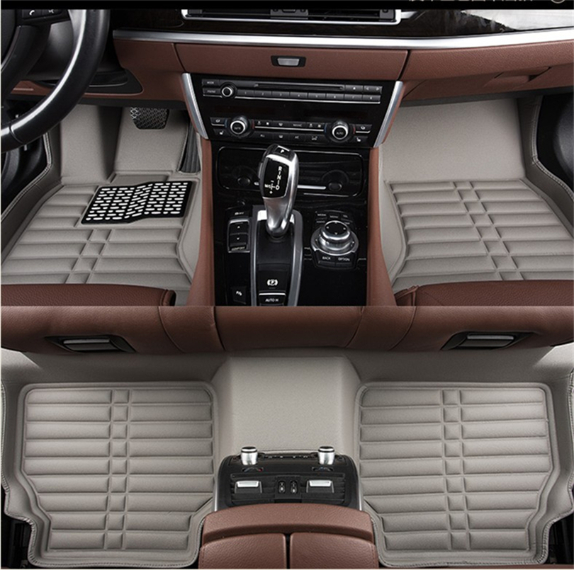 Auto Floor Mats For Toyota LAND CRUISER PRADO 150 2010-2017 Foot Carpets Step Mat HighQuality Water Proof Clean Solid Color Mats auto floor mats for honda cr v crv 2007 2011 foot carpets step mat high quality brand new embroidery leather mats