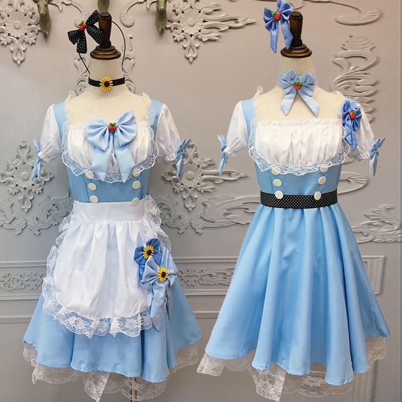 Compra blue maid costume cosplay y disfruta del envío gratuito en  AliExpress.com d3858769c68f
