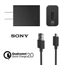 Original Sony UCH10 Fast US charger Quick charger WITH micro usb Cable For Sony Xperia Z3 Compact z3+ Z1 Z2 Z3 C5 Z5 Z4 Z5P XA