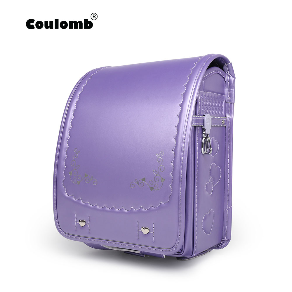 Coulomb Princess Embroidery Backpack For Children High Quality Waterproof School Bag Orthopedic Japanese PU Book Bags
