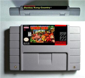 Donkey Kong do País 1 2 3 ou Competição-Cartucho ARPG Jogo Bateria Salvar Versão DOS EUA