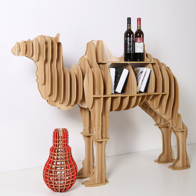 1 Set 8 Colors 3953 Inch Art Home Decorative Wood Crafts Large Wooden Camel