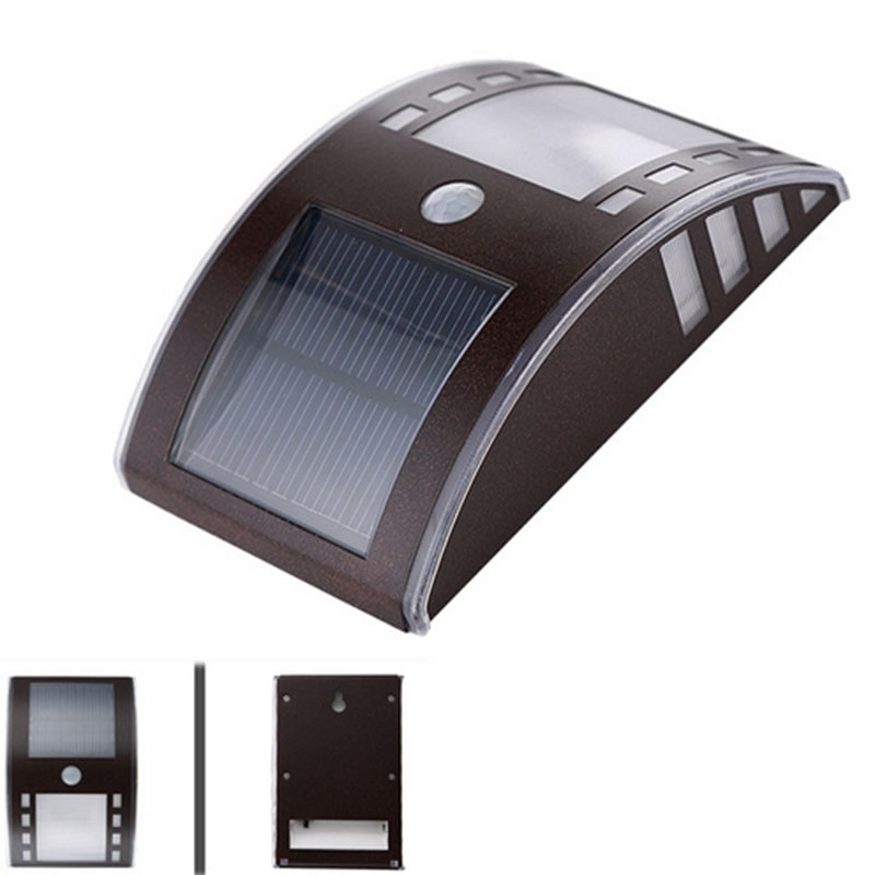 2016 New Stylish 3 Led Bright Solar Powered Wireless Security Motion Sensor Led Outdoor Lights For