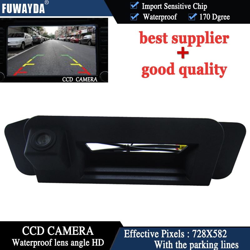FUWAYDA For C Class W205 C180 C200 C280 C300 C350 C63 2014 Trunk Handle Night Vision Car Auto Reverse CCD HD RearView Camera