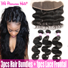 Indian Human Hair With Closure Body Wave Ear To Ear Lace Frontal With 3 Bundles Lace Front Closure With Bundles Annabelle Hair