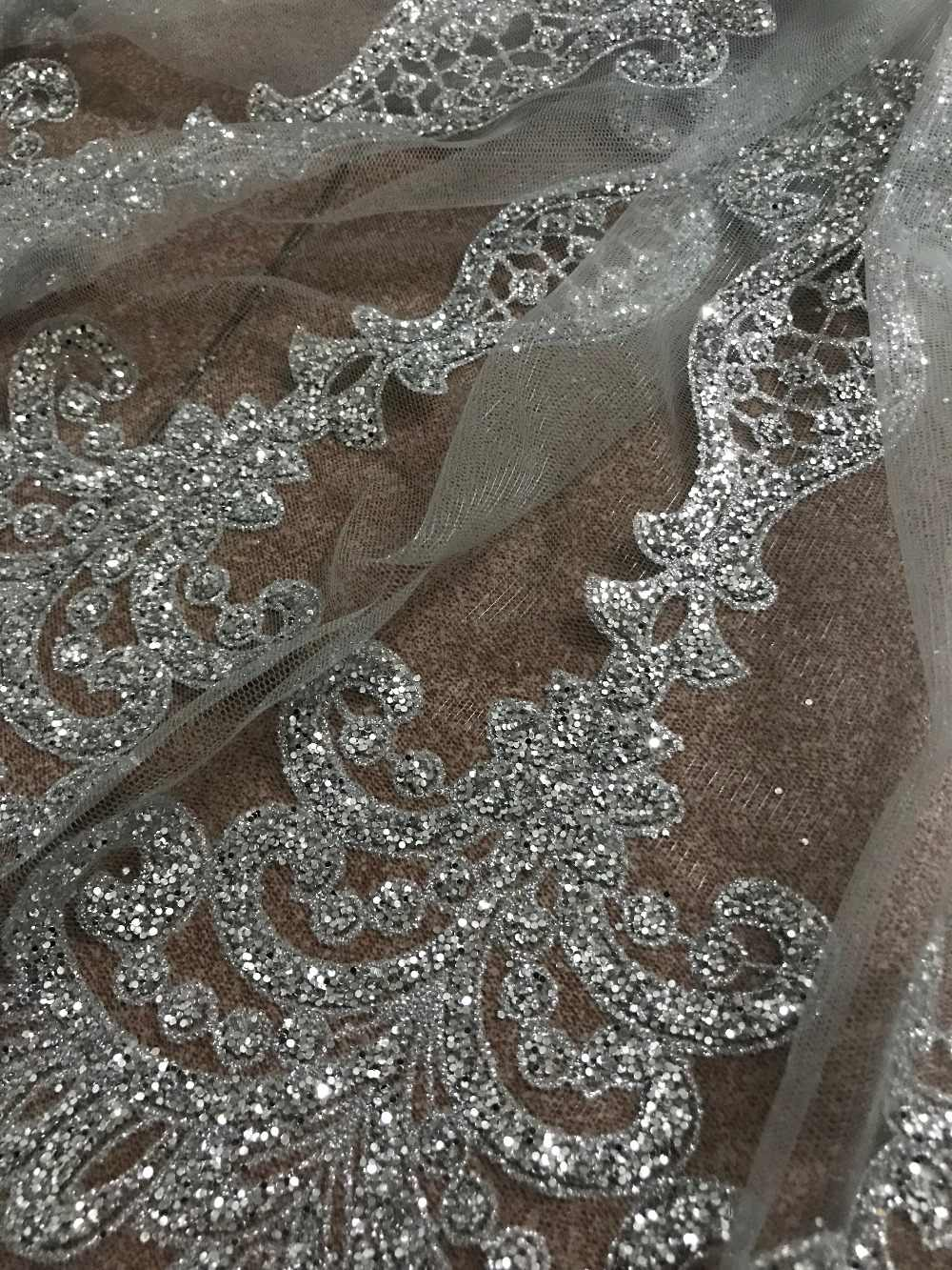 ... 10y glued glitter lace fabric on sale sat-91610 glitter mesh material  for evening dress ... 047fd477ee8f