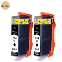 2pcs Black Printer Ink Cartridge For HP 564 564XL For Photosmart 7510 B8500 B8550 C5380 C6375
