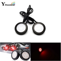 2X 18Chips LEDs Door Anti Collision Warning Light Car Styling DC 12V 24V 0pen Door Safety