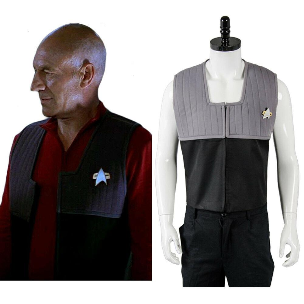 Star NEM Trek Cosplay Costume Adult Men Women Duty Uniform Vest Halloween Carnival Costumes image