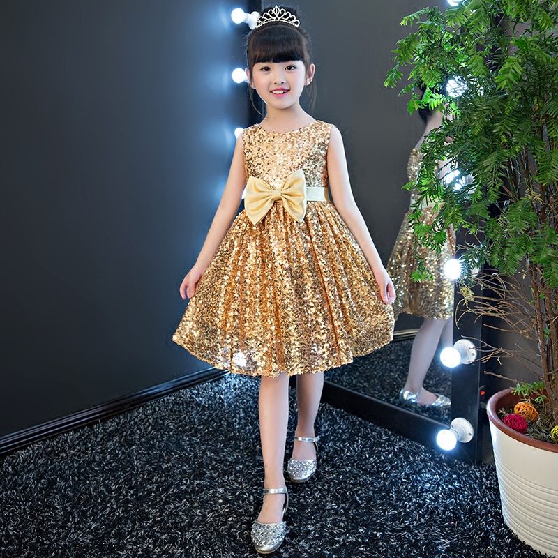 Glisten Sequins Girls Dress Fashion Big Bow Princess Dress First Communion Dresses for Girls Beaded Puffy Party Dress IY17 цены онлайн