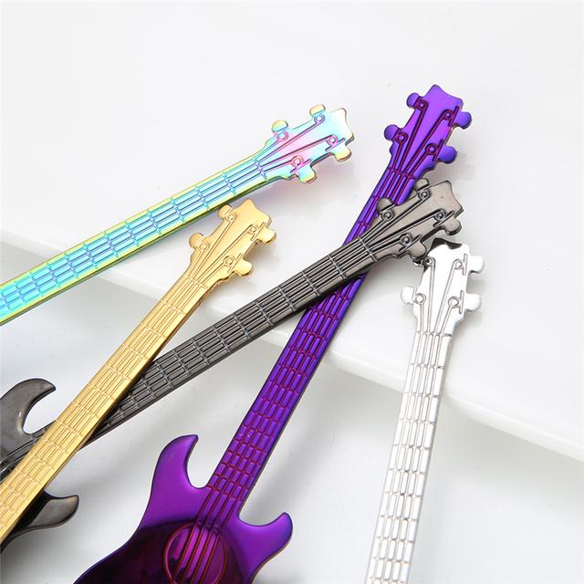 Guitar Shaped Stainless Steel Tea Spoon