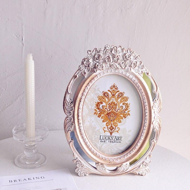 Cadre Photo européen rétro palais Style Rose Art Relief 8 pouces cadre Photo mis en place cadre Photo de mariage cadeaux