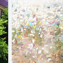 Funlife 60/75/90×200 см пленка для окна непрозрачная декоративная наклейка на окна статического цепляться 3D Нелипкая Стекло пленка для Офис