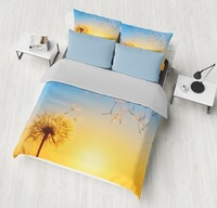 Setting sun Scenery dandelions flowerHome Bedding Sets Pattern Duvet Cover set Pillowcase King Queen Full Twin Size bedclothes