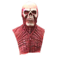 New Halloween Blood Skull Mask Latex Scary wigs haunted house zombies horror decoration Rib muscle devil terror masks Vampire