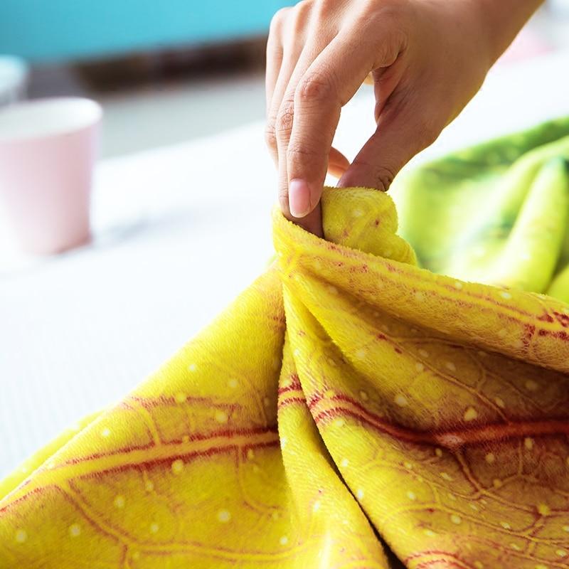 Rubihome 1 unidades franela suave Mantas hoja de impresión felpa aire acondicionado Mantas bedsheet Cubiertas para el sofá verano Oficina Edredones - 4