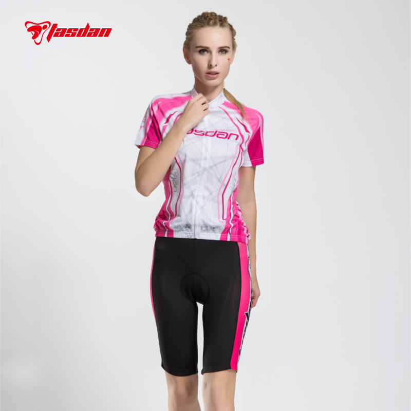 Tasdan Hot Sell Cycling Shorts Jersey Women Cycling Clothing Set with Multi Function Breathable Anti UV 176 hot cycling jerseys magnolia flowers hot cycling jersey 2017s anti pilling female adequate quality sleeve cycling clothing f