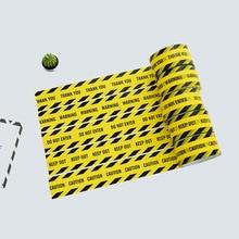 1 롤 48mm * 25m Opp 경고 테이프 위험주의 배리어 알림 작업 안전 접착 테이프 DIY 스티커 몰 스토어 학교
