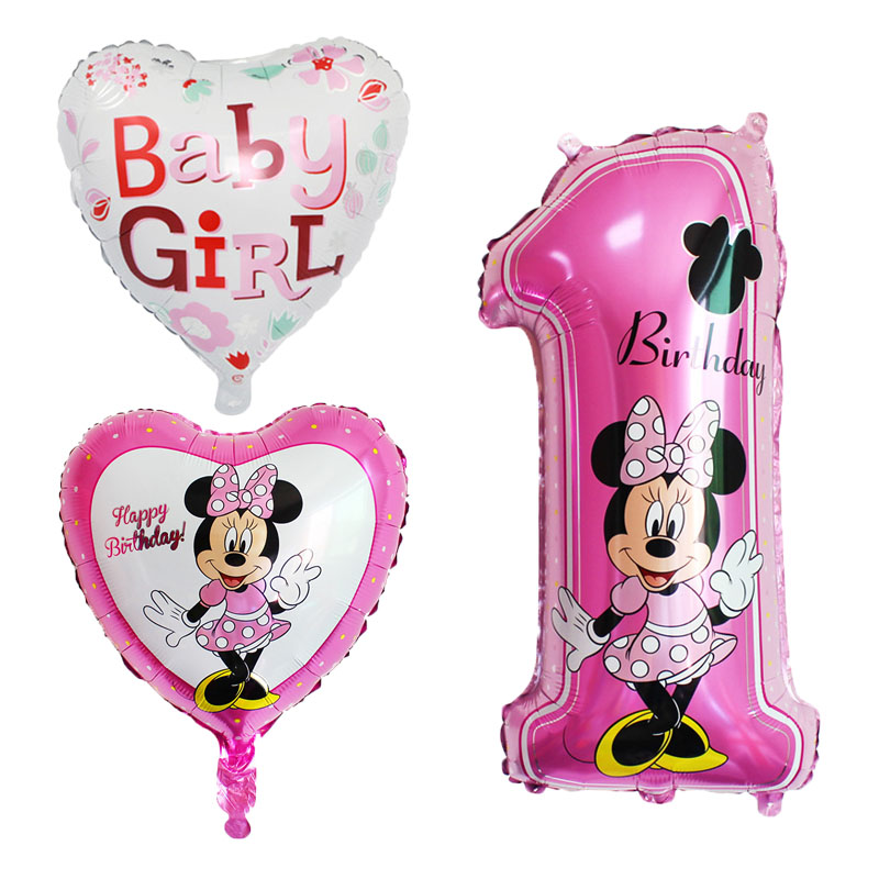 """unicorn pink heart Helium Balloon 18/"""" Minnie mouse"""