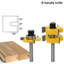 "2pcs 8mm Shank high quality Tongue & Groove Joint Assembly Router Bit Set 3/4"" Stock Wood Cutting Tool - RCT Hand Tools(China)"