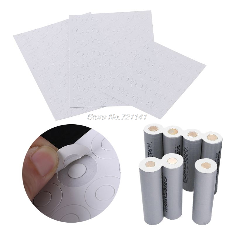 1S 18650 Battery Insulation Gasket Barley Paper Li Cell Insulating Glue Patch Insulation Gasket MAR20 Dropship