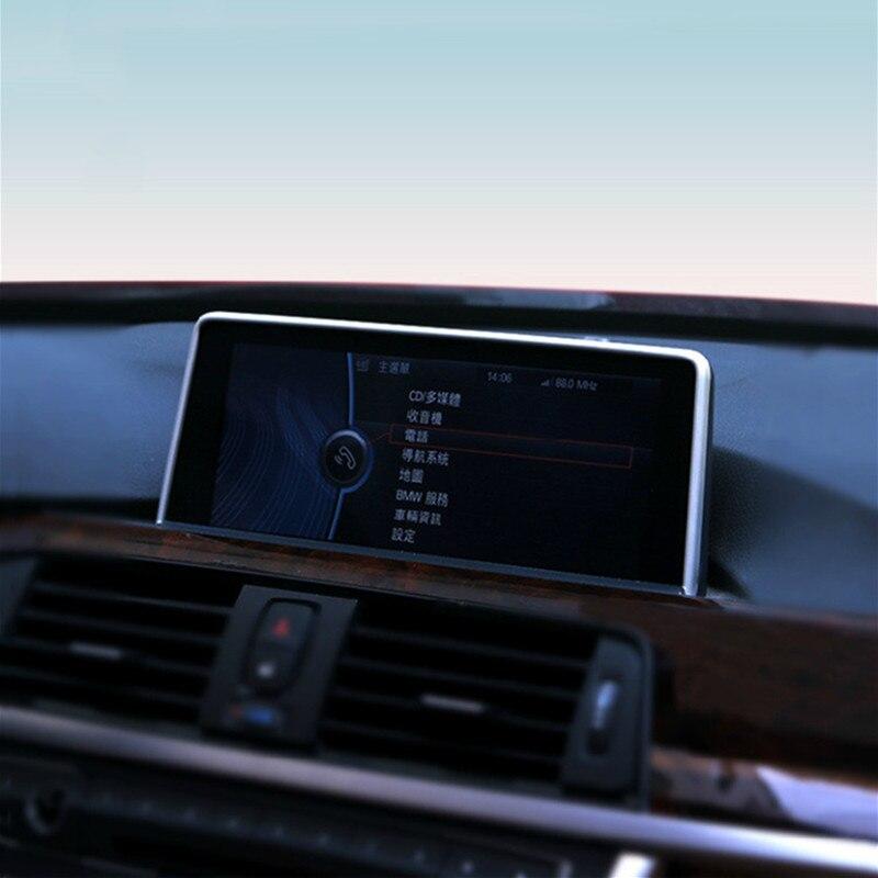 El tablero de instrumentos del coche de navegación decoración de la pantalla de la cubierta Interior de acero inoxidable etiqueta ajuste para BMW F20 f30 f32 f22 2012- 16