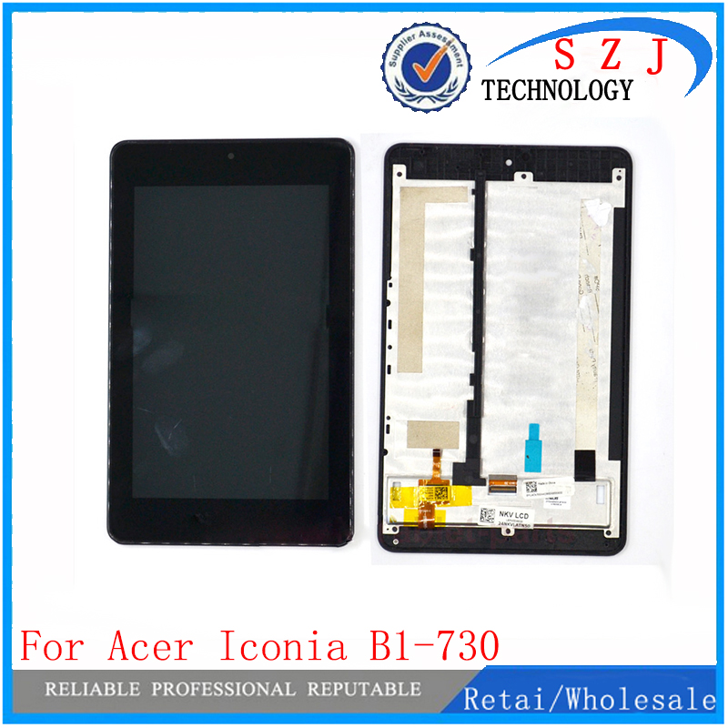 New 7'' inch LCD Display Panel + Touch Screen Digitizer Assembly For Acer Iconia One 7 B1-730 9cm B1-730HD 9.5cm Free Shipping for new lcd display touch screen digitizer with frame assembly replacement acer a1 820 8 inch black free shipping