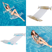New Candy Floating Bed Sequins Floral Swimming Pool Float Water Hammoon Lounge Swimming Pool Swimming Ring swimming