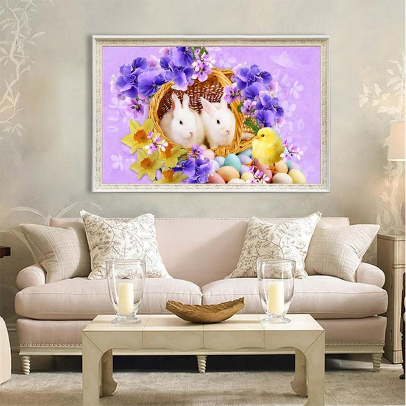 5D DIY Full Drill Diamond Painting Easter Basket Cross Stitch Diamond Embroidery Home Decoration Diamond Craft Gift in Diamond Painting Cross Stitch from Home Garden