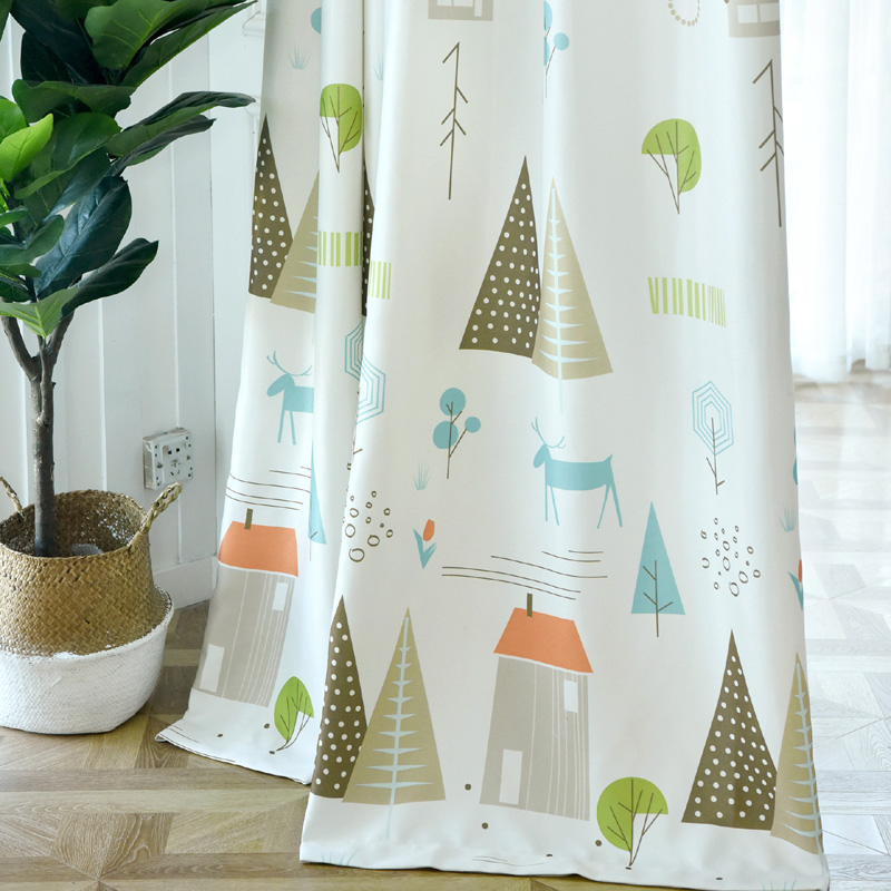 Buy nordic blackout curtains for living - Childrens bedroom blackout curtains ...