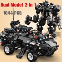 Legoed SWAT Police City Military Building Blocks Compatible with Legoed Technic Toys for Children Boys Kid Model Building Bricks