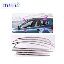 12 STÜCKE Auto styling Side Fenster Trim car styling edelstahl auto fenster borte Für VOLVO V40 auto zubehör
