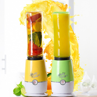 Mini Juicer Electric Small Personal Blender Mixer With Smoothie Bottle Travel Portable Cup Plastic Stainless Steel