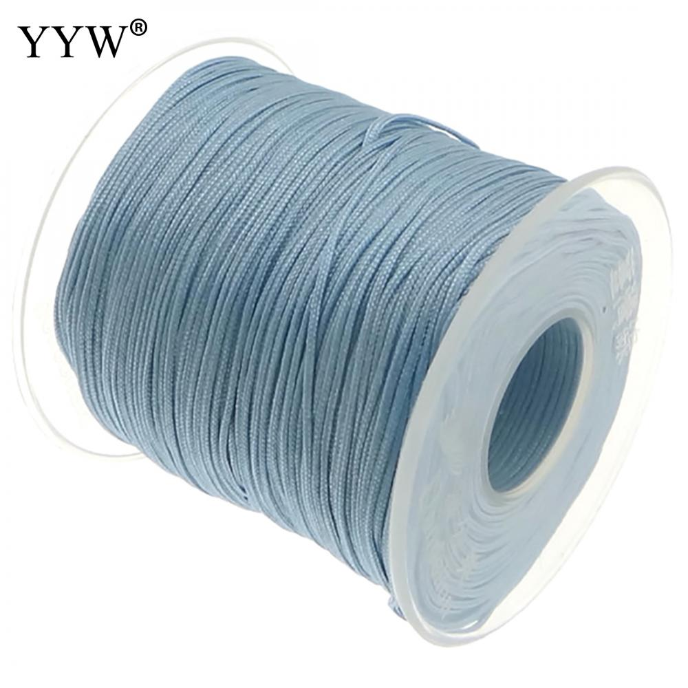 100Yards 1mm Chinese Knot Nylon Cord Plastic Spool String Braid Strap Rope Beading Thread For Necklace Bracelet Jewelry Making